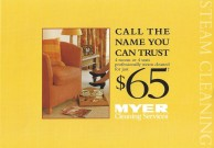 MYER CLEANING SERVICES BROCHURE FRONT