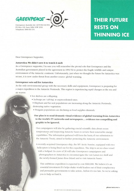 GREENPEACE DIRECT MAIL