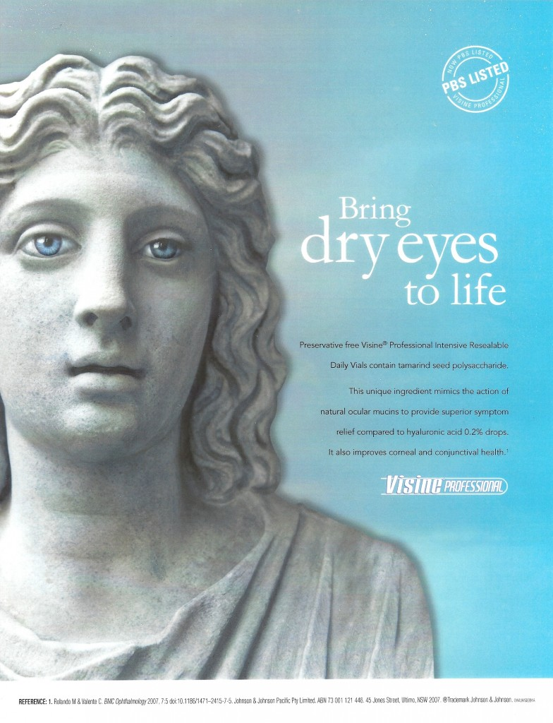 VISINE EYE DROPS ADVERTISEMENT
