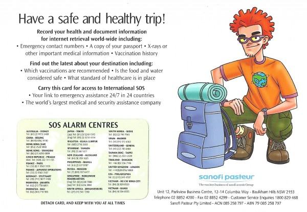 TRAVEL VACCINE PATIENT LEAFLET -1